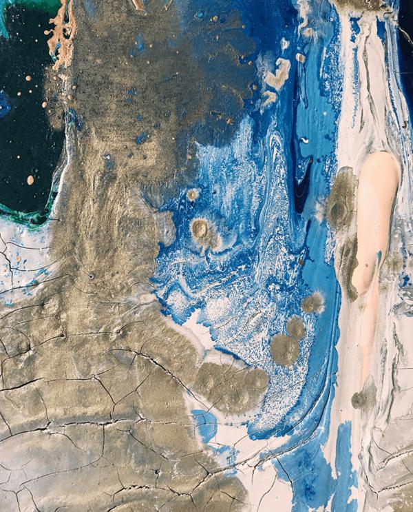 Blauw schilderij - FAUQ Studio