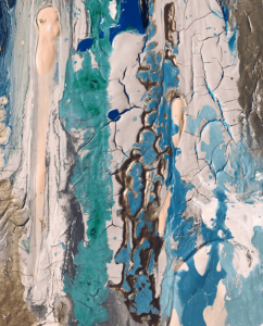 Blauw schilderij – FAUQ Studio