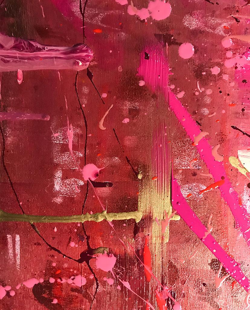 roze schilderij kopen - FAUQ Studio
