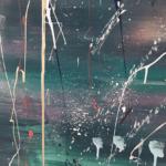 Groen schilderij - abstract groen schilderij - FAUQ studio